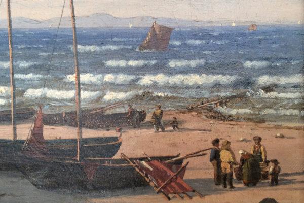 Coastal Scene by Christian Frederik Emil Eckardt (1832-1914)