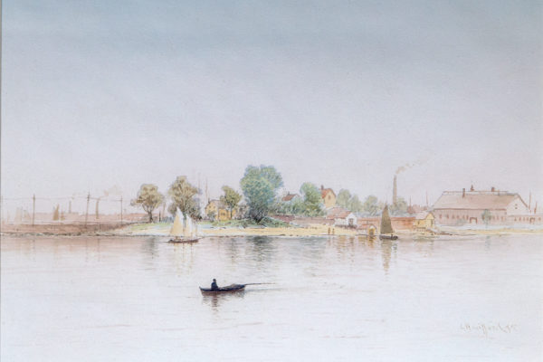 Fairhaven Looking to New Bedford by Charles Henry Gifford (1839-1904)