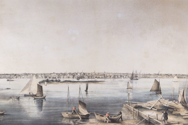 New Bedford, Mass. by Joseph Foxcroft Cole (1837-1892)