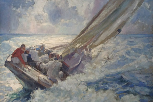 Sailing by Clifford Warren Ashley (1881-1947)